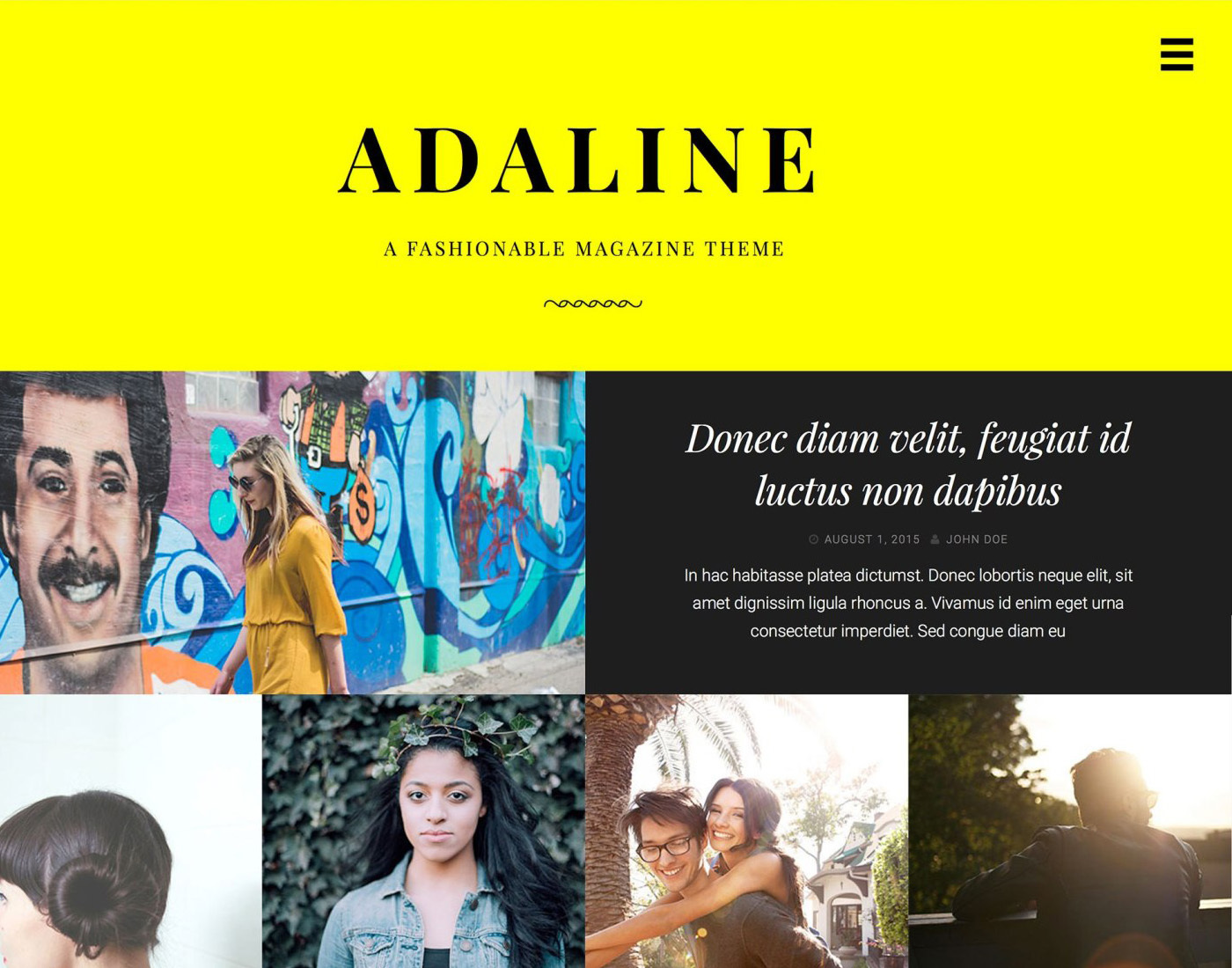 Theme WordPress Adaline
