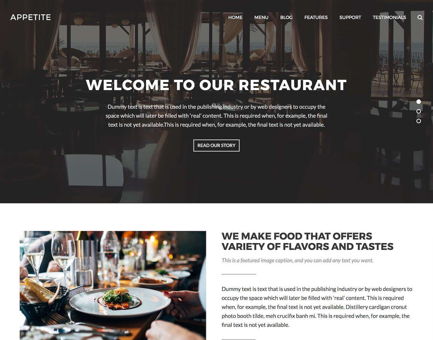 Appetite WordPress Theme